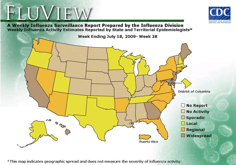 July 24 flu map
