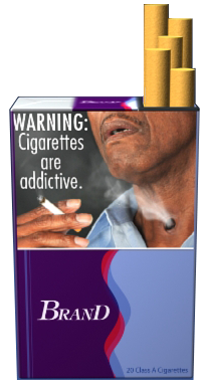 Gross out cigarette warnings