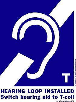 Hearing aid loop logo