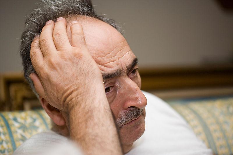 Despairing old guy